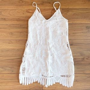 NWOT Express White Lace Dress